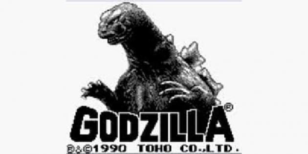 Godzilla GameBoy Game Title Screen